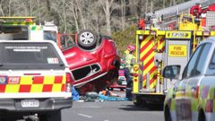 Two people have died in a two-car crash that has blocked State Highway 1 in Northland. (Photo / Jonty Hare)