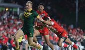 Tonga lost against Australia, but the atmosphere overshadowed the loss. (Photo / NZ Herald)