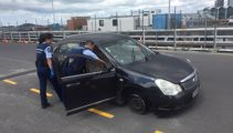 Major police chase descends on Auckland's waterfront