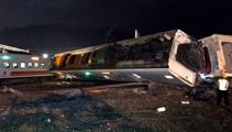 At least 18 killed: Passengers 'flipped out of windows'