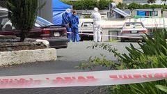 A man arrived at the Otaika Accommodation Park with critical injuries and died at the scene. Photo / Danica MacLean