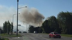 The fire broke out shortly after 4PM. (Photo / Newstalk ZB)