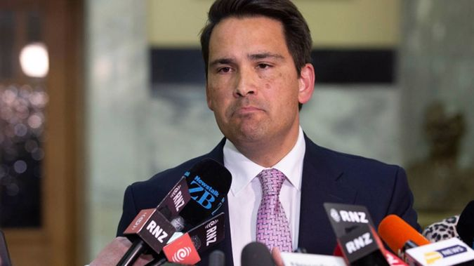 Simon Bridges and the National Party rallied against the 'Waka Jumping' Bill. (Photo / NZ Herald)