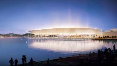 Developers have released proposals for a new sunken stadium in Auckland's waterfront. (Photo / Supplied)
