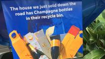 Real estate agents slammed for recycling bin stunt