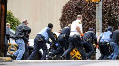 Eleven killed and six injured in US synagogue shooting