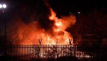 Helicopter belonging to owner crashes outside UK football stadium