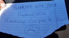 Elderly woman distraught after shaming note over disability park