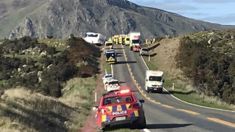 Nine hurt as tourist bus and car collide near Queenstown