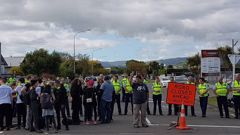 The conference last week was met with days of protests. (Photo / NZ Herald)