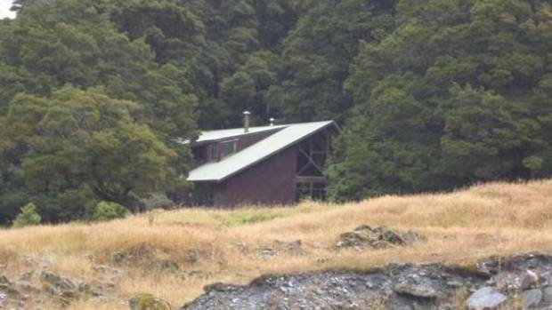 The Otago Boys' High School lodge in the Matukituki Valley where pupils have been stranded by heavy rain. (Photo / ODT)