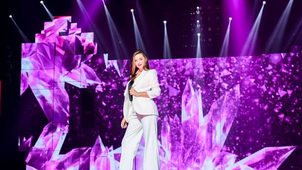 Model Miranda Kerr made an appearance during Alibaba's 11.11 countdown gala. (Photo / Supplied)