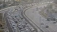 Commuter chaos: Citybound motorists face lengthy delays