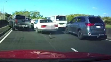 Watch: Car fleeing police smashes past other vehicles