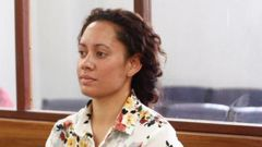 Margaret Herewini-Te Huna sits in the dock at Wellington District Court where she was sentenced this morning for posting a harmful digital communication. (Photo / Melissa Nightingale)
