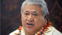Samoan Prime Minister Tuilaepa Sailele Malielegaoi was speaking at a Samoa Airways event in Brisbane, Australia, when the incident happened. Photo / File