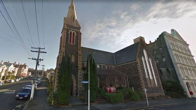 St Matthew's Church in Dunedin this week voted to disaffiliate from the Anglican diocese and its minister called homosexuality an 'abomination'. Image / Google Maps