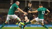 All Blacks lose tense game against Ireland
