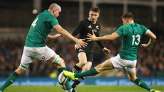 All Blacks lose tense game against Ireland