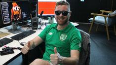 Irish comedian Alan McElroy reacts to All Blacks loss