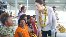 Jessica Mutch-McKay: Jacinda Ardern makes a splash in Papua New Guinea