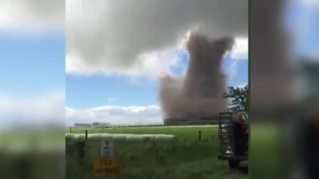 Big tornado tears through mid Canterbury
