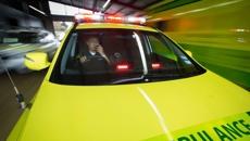 Woman hospitalised after car overturned in crash
