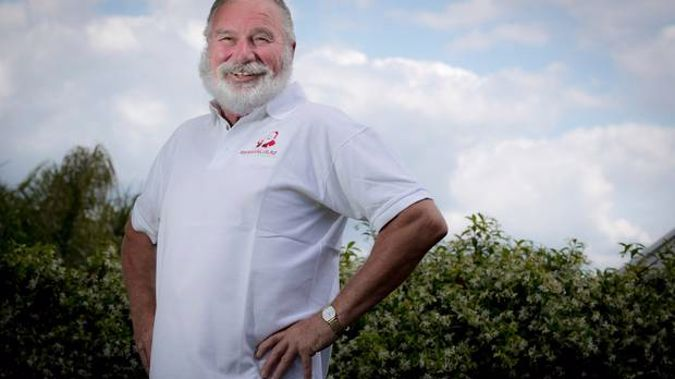 Neville Baker has been the Farmers Santa Parade Santa for the past four years. (Photo / Michael Craig)