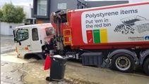 Large sinkhole swallows Christchurch rubbish truck