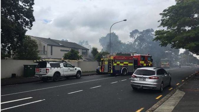 House fire on Hurstmere Rd.
