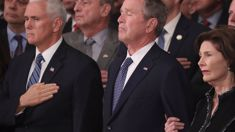 America bids goodbye to Bush with high praise, cannons, humor