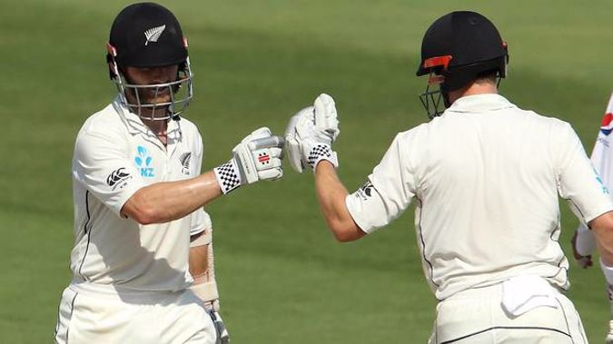 Kane Williamson and Henry Nicholls combined for an epic partnership. Photo / Photosport