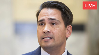 Watch live: Bridges 'unfazed and unconcerned' with party leaks