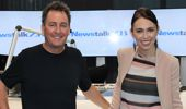 Mike Hosking and Prime Minister Jacinda Ardern exchanged gifts this morning.