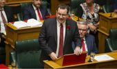Grant Robertson delivering this years budget. Photo / NZ Herald