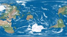 World map makes New Zealand centre of attention