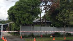 Armed guards outside crime scene in Christchurch