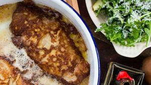 Mike van de Elzen: Parmesan crusted turkey escalopes