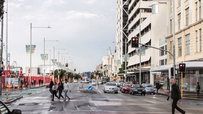 Quay Street will see closures over the holiday period as part of extensive roadworks. (Photo / NZ Herald)