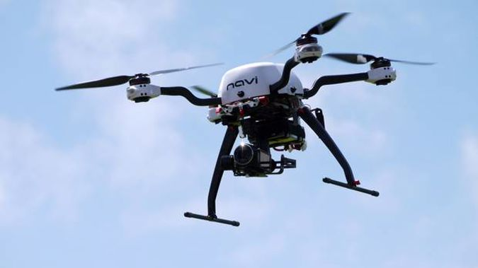 The drone was filming footage for Parliament TV. (Photo / NZ Herald)