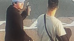 Police are keen to speak to anyone who recognises these two young men, spotted at Bayfair Shopping Centre in Mount Maunganui on December 5. Photo / NZ Police