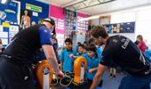 Members of the Team New Zealand team will show children the science and tech behind the boat. Photo / Supplied