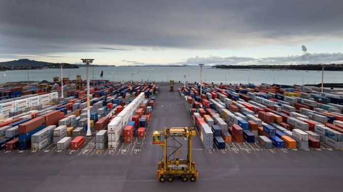 Economic activity: Fergusson container terminal at the Ports of Auckland. New Zealand Herald Photograph