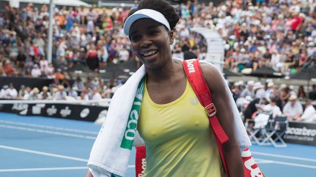 Venus Williams will be a major drawcard for the ASB Classic 2019 in Auckland and organisers are warning fans away from Viagogo so they don't get hit with fake tickets. (Photo / Nick Reed)