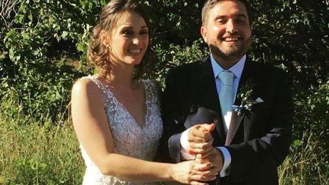 Meagan Chiuchiarelli Sebastiani and Alberto on their wedding day. Photo / Supplied