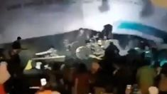 The moment Indonesian tsunami washes away pop band caught on camera