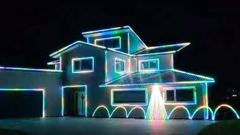 Mike Burton's incredible Christmas lights and music display. (Video / Mike Burton)