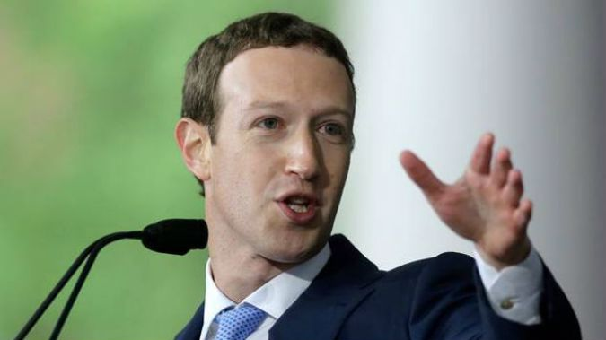 Mark Zuckerberg dropped US$23 billion as Facebook careened from crisis to crisis. Photo / AP