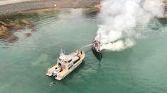 Police fighting boat fire near Waiheke Island
