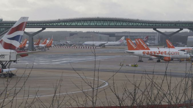 Gatwick Airport was closed for several days before Christmas after drones were spotted in the air above the airport. (Photo / AP)